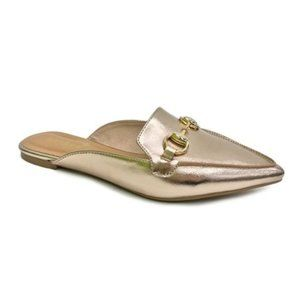 BAMBOO rose gold mules Sz 7.5